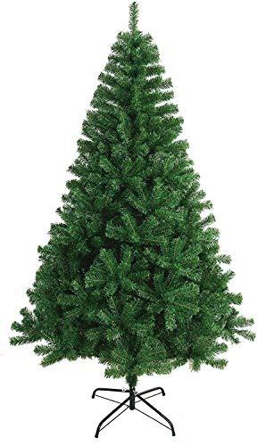 VIGIVISION Árbol de Navidad Artificial - Soporte de Pie Metálico - Fácil Montaje 180CM Verde