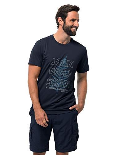 Jack Wolfskin Herren Island Hill T-Shirt, Night Blue, M
