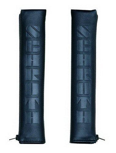 Schroth 00149 Leder Gurtpolster Gutschoner, 1 Paar, 50mm, Schwarz
