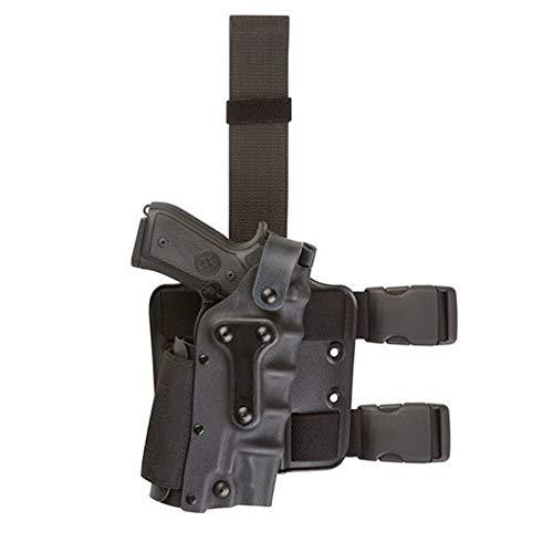 Fondina da Cintura Nascosta da Caccia Tasche tattiche per Pistole Cintura, Fondina da Gamba Cintura della Pistola Multifunzione,Black
