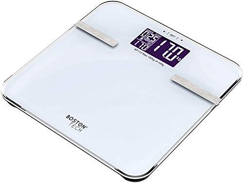 BostonTech ME-103. Diagnosewaage, Personenwaage zur Messung von Gewicht, Körperfett, Körperwasser, Muskelanteil und Knochenmasse, mit Berechnung des Kalorienbedarfs