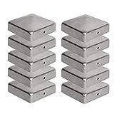 10 x Pfostenkappe für Zaunpfosten (70x70 mm) | Verzinktem Stahl | Pyramiden Form | Abdeckkappe für Holzpfosten VIIRKUJA
