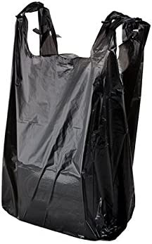 Large special price Bargain sale Black Plastic Shopping Bags 1000 11.5x6x21-12mic
