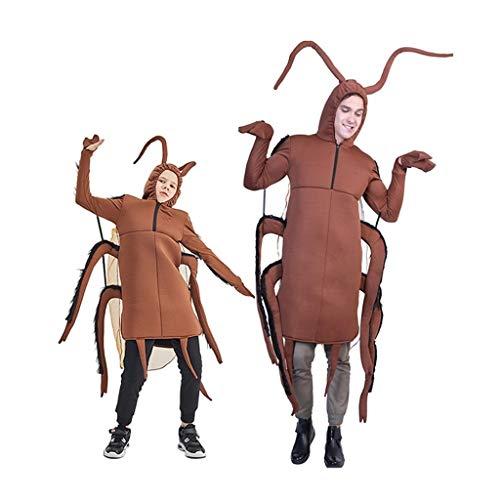 ZANZAN Disfraces de Halloween para Hombres Adultos Entre Padres e Hijos de los Trajes de Halloween for nios, Divertidos pequea cucaracha Buzos, Campus Actividades de la Etapa Actuaciones