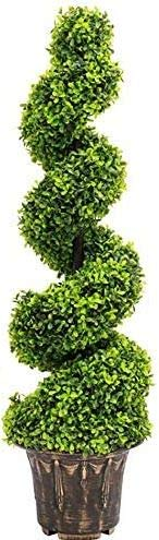BPIL 3FT ARTIFICIAL SPIRAL TWIST TOPIARY TREE (1)