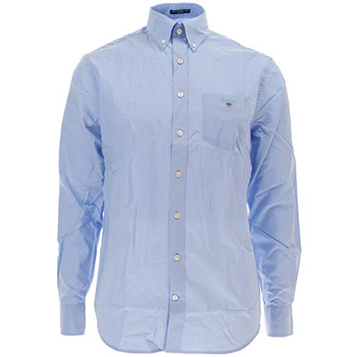 GANT Herren The Broadcloth REG BD Hemd mit Button-Down-Kragen, Hampton Blue, 4XL