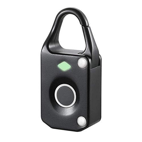 Bloqueo Inteligente digital electrónico inteligente de la huella digital del candado al aire libre maleta del recorrido del bolso de la cerradura Apartamento Business Manage (Color: Plata, Tamaño: un