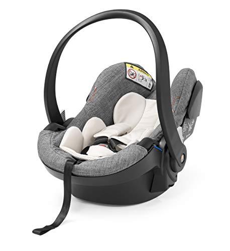 STOKKE® iZi Go Modular X1 by BeSafe - Autokindersitz für Babys von 0-12 Monate - kompatibel mit allen STOKKE® Kinderwagen-Chassis-Modellen - Farbe: Black Melange