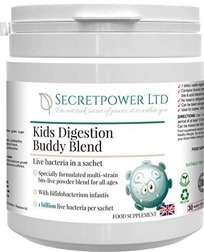 Kids Digestion Buddy Blend, a Live Culture Powder Suitable for Children – 1 Billion Strength, 30x1g Powder