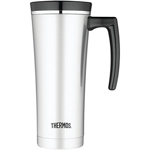 Thermos 16 Ounce Vacuum Insulated Travel Mug Black