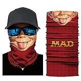 Unisex Multifunktionstuch Herren Damen Halstuch Schlauchschal - Atmungsaktiv & Schnelltrocknend - Motorrad Gesicht Mundschutz Lustig Skull Maske Face Shield-Tuch Halsschlauch Halstuch mit Motiv