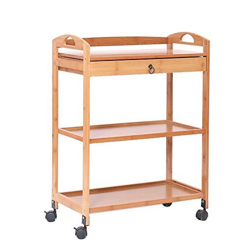 Keuken plank 3 laag kruidenrek antieke trolley mobiele katrol opslag rack