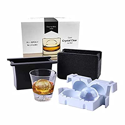Amazon - 50% Off on  Home Slow Melting Crystal Clear Round Ice Ball Mold- Big 2.4 Inch Sphere Silicone Ice Cube Maker