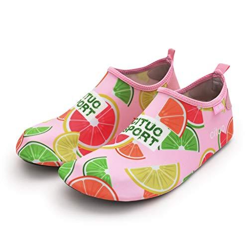 ZZABC SHTAXJWXW Wasserschuhe barfuß Quick-trockene Kinder Outdoor Aqua Socken Schuh Hausschuhe Baby Jungen Mädchen Tauchen Wating Beach Badeschuhe Kinder (Color : C, Size : 32-33)