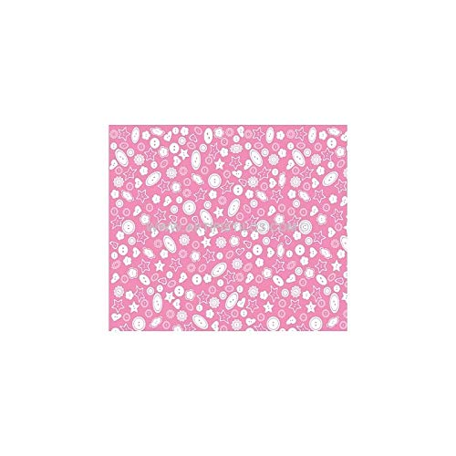 Artipistilos® Goma Eva Estampada - 50 Cms X 33 Cms. X 2 Mm, Rosa Botones Blancos - Planchas De Goma Eva/foami