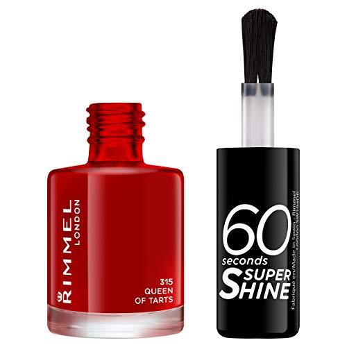 Rimmel - Vernis à Ongles 60 Seconds Super Shine - Ultra Brillance et Longue Tenue - Séchage rapide - 315 Queen of Tarts - 8ml