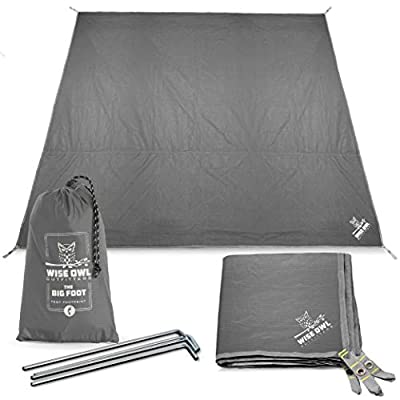 Wise Owl Outfitters Camping Tarp Waterproof Tent Footprint Lightweight Floor & Ground Tarps for Camping Hiking & Ultralight Backpacking