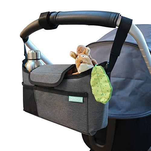 Onco Pram Organiser - Buggy, Pushchair or Stroller Bag for Baby Essentials...