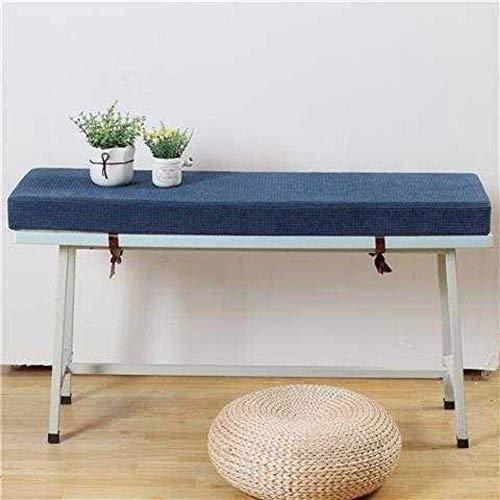 Schnüren Sie das lange Stuhlkissen aus Maisvlies, das verdickte rechteckige Sitzkissen, das nachhaltige Sofakissen für den Außenbereich & die Esszimmerstuhlkissen mit blauem Reißverschluss