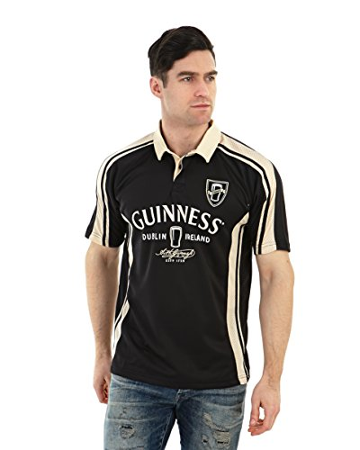 Arthur Guinness Signature Performance Rugby Jersey (Medium) Black/Cream