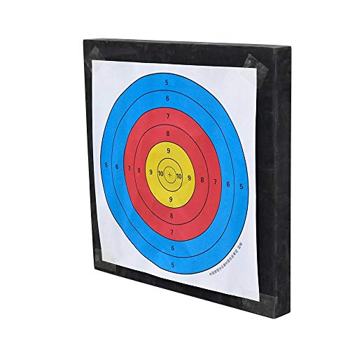 D&Q Archery Foam Target 20''x20''x2'' Field Point Game Shot High Density Lightweight Self Healing Target for Recurve Compound Bow Arrows Hunting Shooting Practice (Black, 20x20x2 inch)