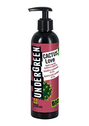 Undergreen by Compo Cactus Love, Nahrung für alle Kakteen und Sukkulenten, Bio-Flüssigdünger, 250 ml