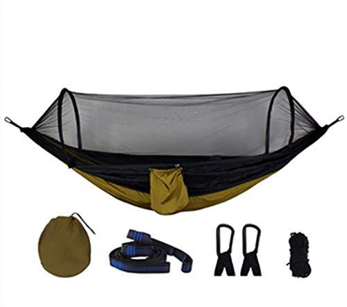 DIRUIDA Hamac Extérieur Portable 2,7 X 1,4 M Extérieur Double Poids 250 Kg Couple Ultra Léger Moustique Anti-Moustique Anti-Trump Moustiquaire