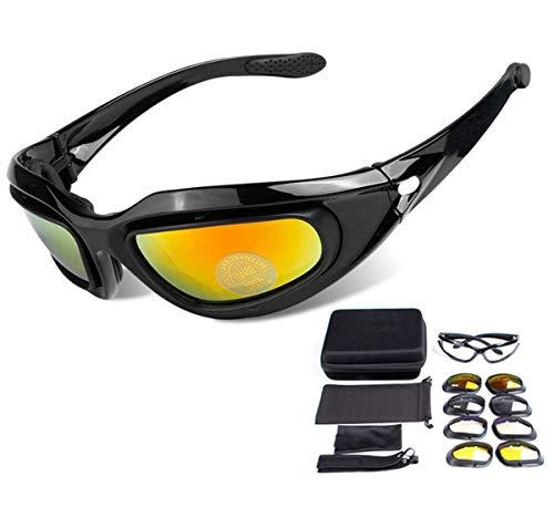ZHIYIJIA Sport Zonnebril Gepolariseerde Motorfiets Goggles Gewatteerde Band UV 4 verwisselbare Lens Voor Mannen Vrouwen Fiets Motocross Skiën Hardlopen