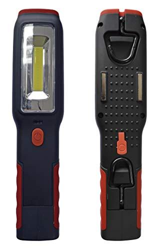 KRAWEHL Lampada da Lavoro Ricaricabile con Led + Lanterna - LED COB 15,5 * 4 * 2 CM - Ref. AZ. 5304.0000656