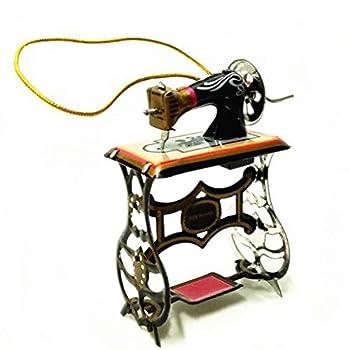 GloryMM Sewing Machine Pendant Vintage Iron Metal Models Ornaments Hollow Children Home Decorations Bag Accessories
