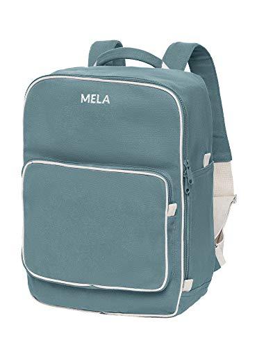 MELAWEAR MELA II Rucksack - Nachhaltig mit Fairtrade Cotton, GOTS und Grüner Knopf Zertifizierung, Farben MELA II:petrol