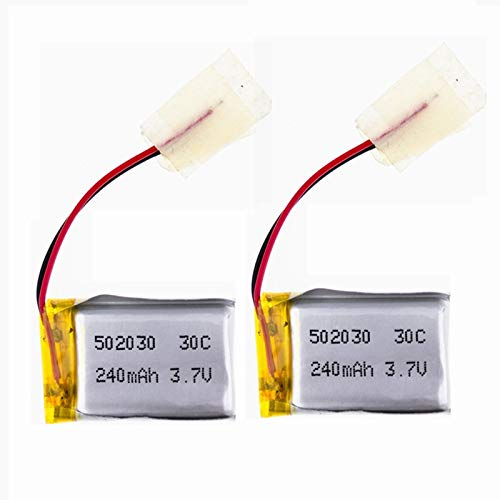 3.7V 240mAh Lipo Battery for Syma S107 S108 S109 S026 6020 RC Helicopter Airplane S107 Battery 2 Pack 502030