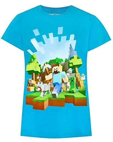 Minecraft Adventure Mädchen blau T-Shirt