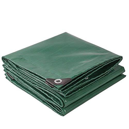YXB Plane wasserdicht mit Ösen, Plane regensicher Schuppentuch Campingzelt Markise Sonnenschutz, Bodendecker für Anhänger PKW Zeltboot, grün FENGMING-yb (Farbe: grün, Größe: 4 x 5 m)