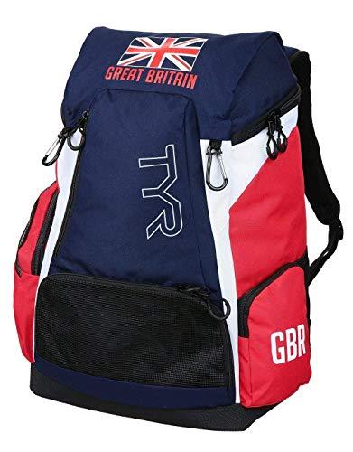 TYR Alliance Team Mochila 45L Federación Británica-Edición Especial, blu/rojo, Único-45L