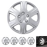"""BDK Wheel Guards – (4 Pack) Hubcaps for Car Accessories Wheel Covers Snap Clip-On Auto Tire Rim Replacement for 15 inch Wheels 15"""" Hub Caps (Replica for Camry)"""
