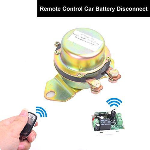 Cocar Auto Kfz 12V Elektromagnetisch Fernsteuerung Trenner Batterieschalter Batteriehauptschalter Remote Control Magnetspule Stromunterbrecher Hauptstromschalter Hauptschalter
