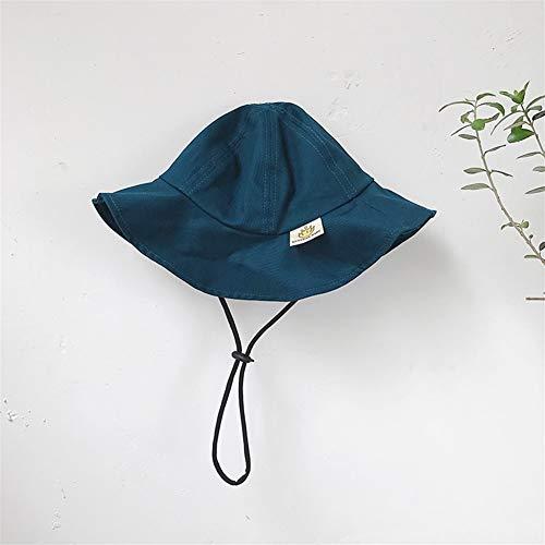 XinQuan Wang Enfants Filles Printemps et Chapeau Voyage d'été Super Meng Chapeaux de bébé Chapeau de Soleil Mignon garçons bébé marée (Color : Blue Green, Size : Taille Unique)