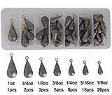 54stk sortiert Bell/Bass Casting Sinker Bleie Gewichte Angelausrüstung kit