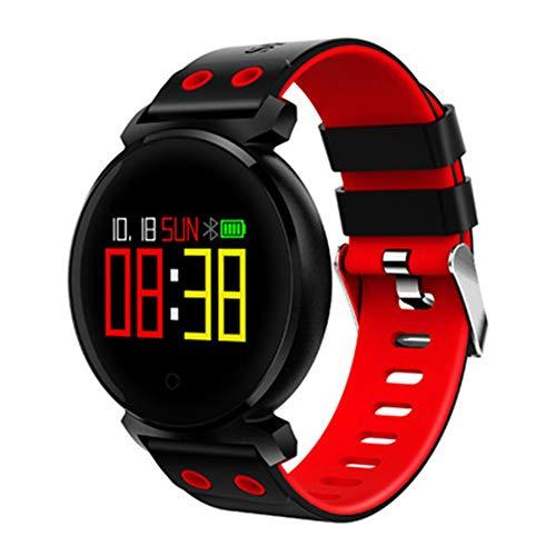 GXLO Fitness-Tracker, Aktivitäts-Tracker-Uhr mit Pulsuhr Wasserdichte IP68-Fitnessuhr, Schlaf-Monitor-Schrittzähler-Pedometer Smartwatch,Red
