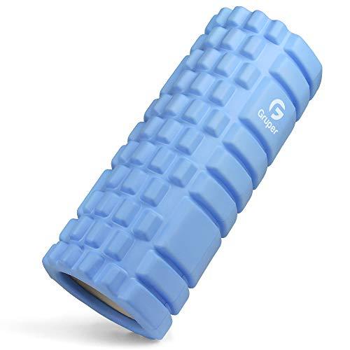 KOOLSENフォームローラー筋膜リリースグリッドフォームローラーヨガポールトレーニングスポーツフィットネスストレッチ器具日本語説明書付収納バッグ