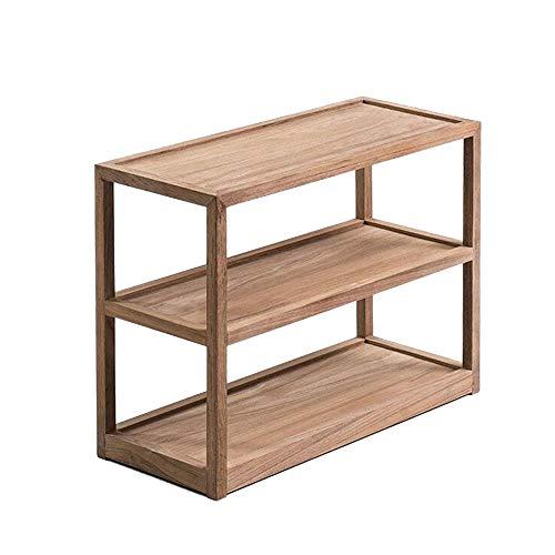 JCNFA planken bureaublad decoratie rekken/servies rekken, massief hout planken, theekamer woonkamer, zwart notenhout meubels
