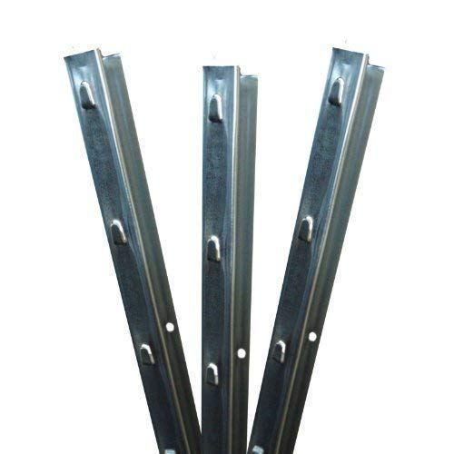 Aquagart Z-Profil Zaunpfosten 1,5 m verzinkt I 5 Stück Metallzaunpfosten aus Bandstahl 1,2mm stark I Zaunpfähle für Wildzaun Weidezaun Drahtzaun Wildschutzzaun Knotengeflecht Zaun