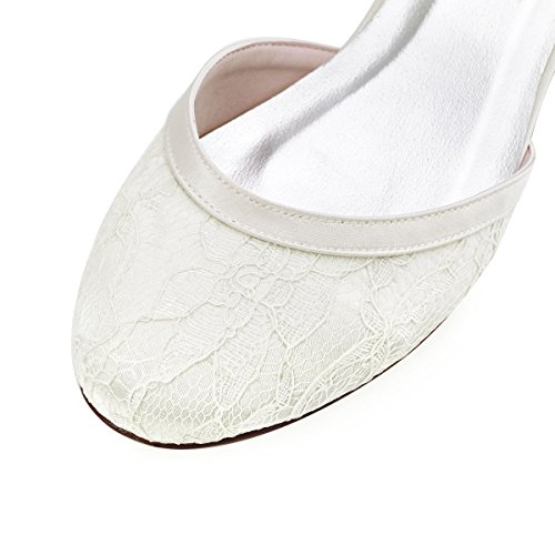 Elegantpark // Brautschuhe mit diesem niedrigen Absatz (Ivory oder Weiß) - 4