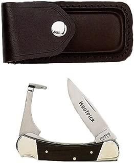Fury Mustang Original Lockback Folding Knife and Hoof Pick, 3.75-Inch Closed with Leather Sheath