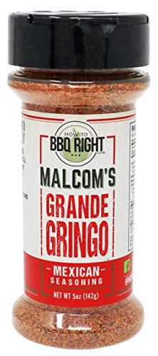 Malcom's Seasoning Grande Gringo | Spicy Mexican Seasoning for BBQ, Grill, Tacos, Dips, Even Margaritas | 5 oz