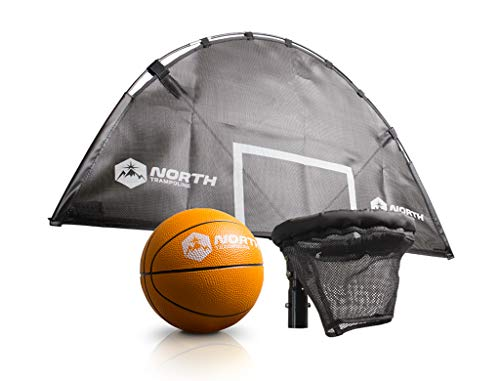 North Trampoline Basketballkorb, Trampolin-Zubehör für Spaβ und Spiel, Ballspielen auf dem Trampolin (Modell 2020)