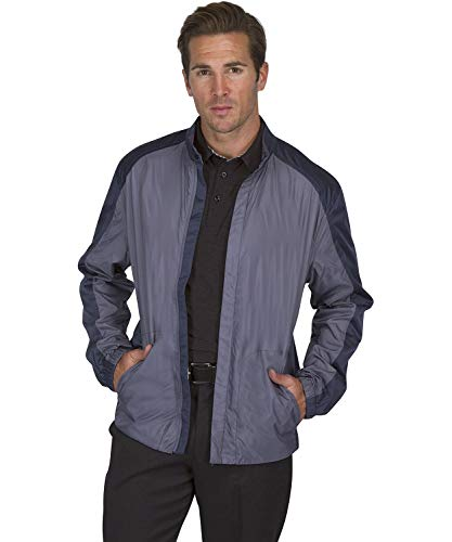 Review Three Sixty Six Full Zip Golf Jacket for Men - Lightweight Mens Rain Coat - Water Resistant W...