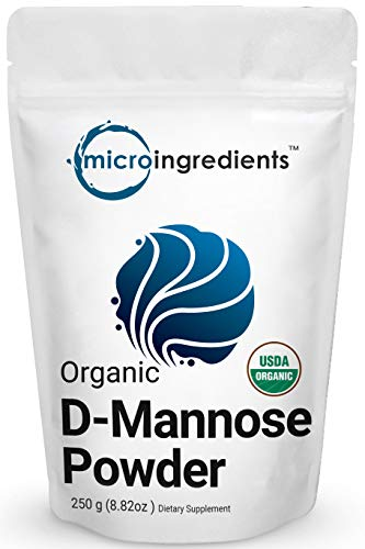 Organic D Mannose Powder, 8.8 Ounce (250 Grams), Pure Mannose Supplement, Powerfully Support Urinary Tract Cleanse and Bladder Health for Both Men and Women, No GMOs and Vegan Friendly