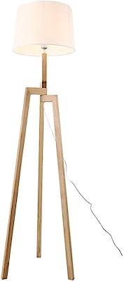 H:150cm,Schirm D:43cm,H:30cmFALSCH Stehleuchte 1flg BRAY Eiche hell,Schirm weiss f/ür 1xE27,max.42W